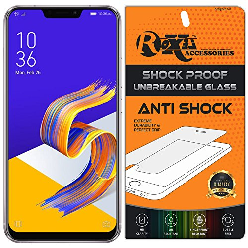 Asus ZenFone 5Z Roxel {Buy 1 GET 1 Free} Unbreakable Anti Shock Series Tempered Glass Screen Protector for Asus ZenFone 5Z (Meteor Silver, 256 GB) (8 GB RAM)