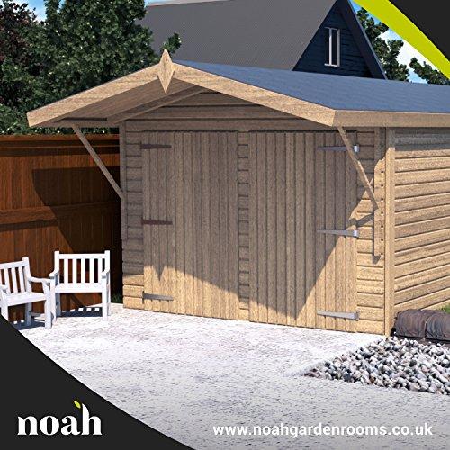 Noah Garden Rooms Oxford - Garaje, caseta, taller para el jardín de madera muy resistente, de 6 x 3...