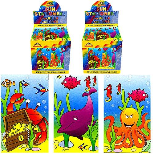 German Trendseller® - 4 x Meerestiere Notiz-blöcke ┃ Unterwasserwelt ┃ Kinder lieben diese Unterwasser Notizblöcke ! (Glas-block-caps)