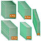 DEYUE 40 PCB Pcs Double-sided Prototyping PCBs Circuit Boards Kit | 5 Size Universal untraced perforated printed circuits boards | Solder-able Circuit Protoboards for DIY Soldering and Electronic Project