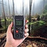 Holzfeuchtemessgerät Brennholzholz Feuchtigkeitsmesser stihl mit großes LCD-Display Brennenstuhl Feuchtigkeits-Detector von Hihoddy Digital Moisture Meter für Brennholz und Stein, Baterrie enthalten