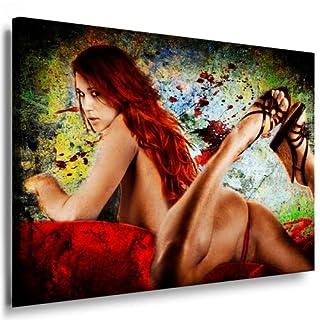 Leinwandbild Akt Erotik Sexy Girl (Bild auf Leinwand 121x81x2cm) k. Poster / Weitere Bilder - Wandbilder - Kunstdrucke - Foto auf Leinwand - Alle Bilder fertig gerahmt mit Keilrahmen.