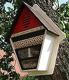 """Großes Insektenhotel """"Check in"""" Insektenhaus aus FSC Holz Bienen Haus Nist Brut Kasten in Schweden Rot"""
