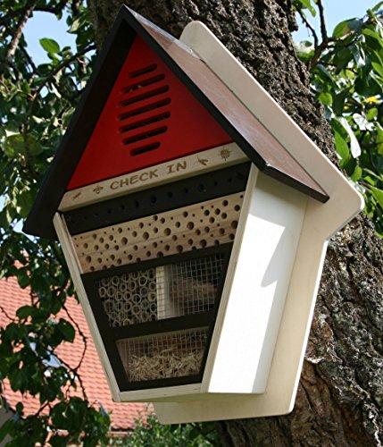 XL-Htel--insectes-Maison-de-Check-in-insectes-en-bois-FSC-abeilles-nist-Incubateur-en-sude-Rouge
