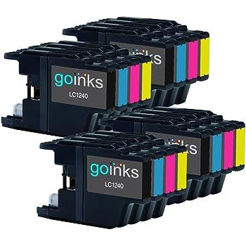 4 Go Inks Ensemble de 4 Cartouches d'encre à remplacer Brother LC1240 & LC1220 Compatible/non-OEM pour Brother DCP et MFC Imprimantes (16 Encres)