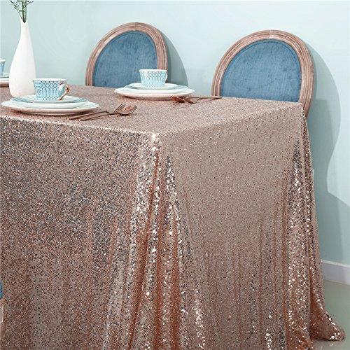 Zdada Pailletten Tischdecke Sparkly Quadratisch tableoverlay für Hochzeit Dekoration 60