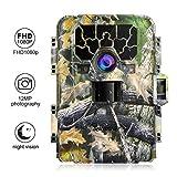 ACEHE Wildkamera 12MP 1080P Full HD Wildlife Camera Jagdkamera Überwachungskamera Hunting Jagd Kamera Nachtsicht Wasserdicht
