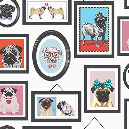 papier-peint-multi-11360-a-pugs-life-chien-portrait-cadre-k2-holden-decor
