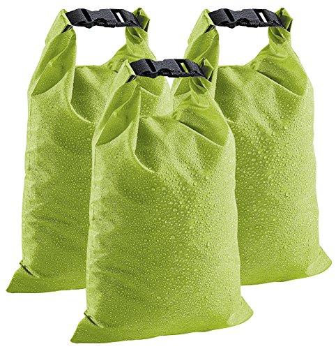 Xcase Roll Top Sacks: Wasserdichte Nylon-Packtaschen DryBags 3er-Set: 1, 4 & 8 Liter (Packsack)