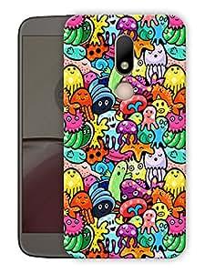 "Humor Gang cute doodle art Printed Designer Mobile Back Cover For ""Motorola Moto M"" (3D, Matte Finish, Premium Quality, Protective Snap On Slim Hard Phone Case, Multi Color)"