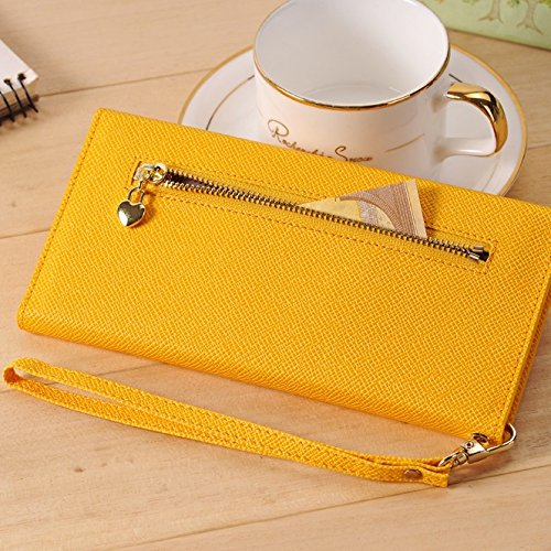 iPhone Case Cover Zipper style sac avec étui enveloppe style enveloppe pour Apple iPhone Samsung téléphone mobile (taille du boîtier: pour 3,5 pouces à 5,5 pouces) ( Color : Red , Size : 3.5''-5.5'' ) Yellow