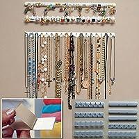 Colgador de pared para joyas 9 en 1, organizador de collares