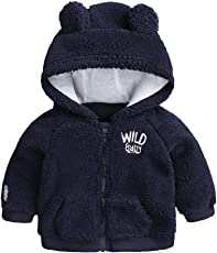 erthome Baby Winter Coat Baby Cartoon Ohr Kapuze Pullover Tops Warme Mantel
