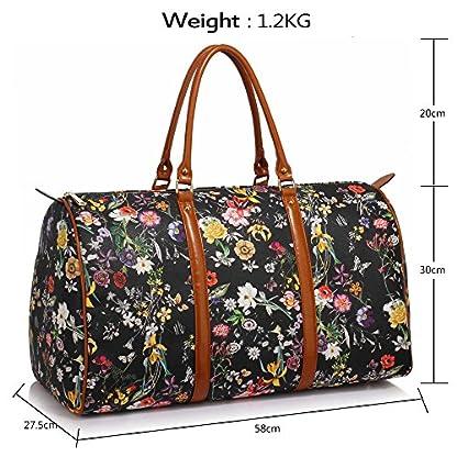 Anna-Grace-Vintage-Reisetasche-Blumenmuster-Wasserdicht-Weekender-Tasche-Duffle-Bag-Gro-Wochenend-Tasche-Herren-Damen
