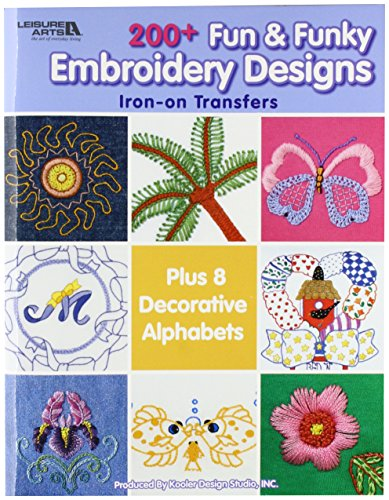 Leisure Arts-200+ Fun & Funky Embroidery Designs -