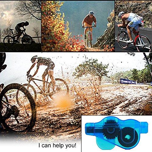 Fozela Fahrrad Kettenreinigungsgerät / Fahrradreiniger / Kettenwäscher / Fahrradkettenreiniger– Schnelles sauberes Werkzeug für Alle Arten von Fahrrad Ketten - 4
