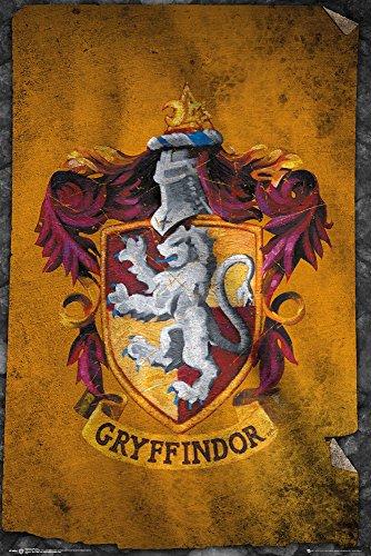 HARRY POTTER Poster, Bois Dense, Gryffindor Flag, 61 x 91,5 cm