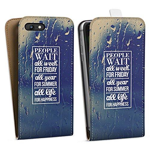 Apple iPhone X Silikon Hülle Case Schutzhülle Glück Sprüche spruch Downflip Tasche weiß