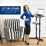 Mobile Laptop Desk Cart Height and Angle Adjustable Tilt Spliting Laptop Stand Table