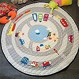 Kinder Babys Straßenkarte Baumwolle Frühling Outdoor Strand Krabbeldecken| Spielbögen| Spielmatte| Spielteppiche für Kinderzimmer (Autos)