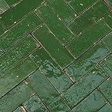 20Stk. Cotto Ziegel Bejmat Zelliges Bodenplatte Bodenfliesen Fliese (Bejmat grün klein)