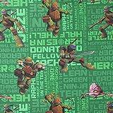 Fabulous Fabrics Ninja Turtles Baumwollstoff 2 grün —