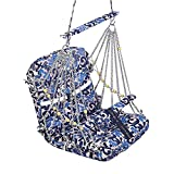 #3: A E Large Soft Multi Color Cotton Swing for Kids Baby's Children folding and washable 1 -4 years With Safety Belt - Garden Jhula for Babies - Large Size