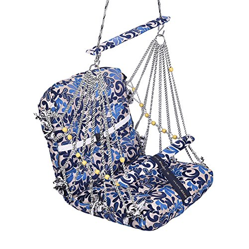 A E Large Soft Multi Color Cotton Swing for Kids Baby's Children folding and washable 1 -4 years With Safety Belt - Garden Jhula for Babies - Large Size