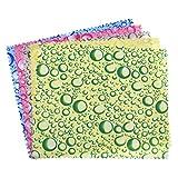 Kesheng 10x Brillentücher Reinigungstücher Wassertropfen Muster Mikrofaser Zufällige Farbe