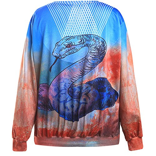 THENICE Femme Hip-Hop sport Sweat-shirts Large pythons