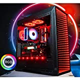 GameMachines Saber - Gaming PC - Intel® Core™ i7 8700 - NVIDIA GeForce GTX 1080 - ASUS ROG Strix Gaming Mainboard - 500GB SSD - 2 TB Festplatte - 16GB DDR4 - WLAN - Windows 10 Pro