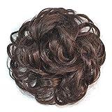 Higlles Postiche Chignon Extensions De Cheveux Bouclés Ondulés Chouchou Postiche Queue de Cheval Résistant à La Chaleur