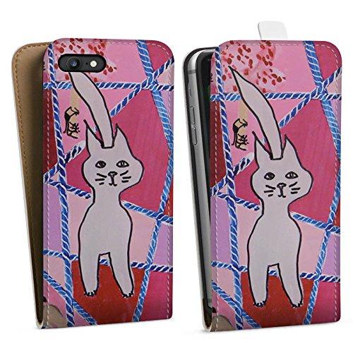 Apple iPhone X Silikon Hülle Case Schutzhülle Katze Cat Kitty Downflip Tasche weiß