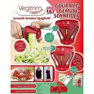 vegitrim gourmet gem seschneider spiralschneider salat schneider original aus tv werbung. Black Bedroom Furniture Sets. Home Design Ideas