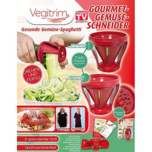 vegi Trim® Gourmet Cortador de verduras–Cortador en espiral–Ensalada Schneider–Original de TV de publicidad
