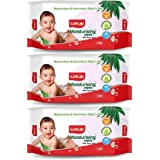 LuvLap Baby Moisturising Wipes with Aloe Vera, 72 Wipes/Pack, Pack of 3 Combo