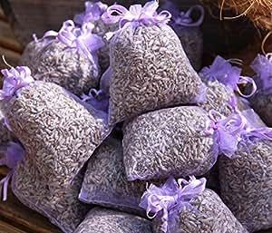 Quertee® - 10 x sacchetti di Bio lavanda - Complessivamente 100 g - Fiori di bio lavanda
