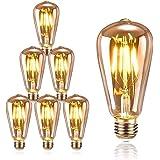 KIPIDA Ampoule E27 Edison Vintage, Ampoules Edison LED E27 ST64 4W Lampe, Rétro Filament Edison Ampoule,Vintage Antique Décor