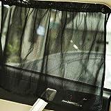 quanjucheer 1Paar Universal KFZ UV-Schutz Sonnenschutz Seite Fenster Vorhang + Saugnäpfe Fit Die meisten Auto, Schwarz, 43cm x 77cm