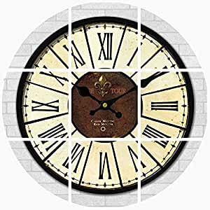 Y Hui The Mediterranean Living Room Wall Clock Decor Mute Wall Clock Table Green Retro Quartz