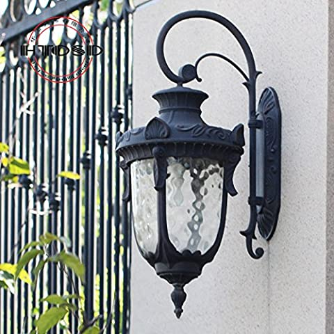 GHT.A Continental retrò impermeabile minimalista Balcone delle lampade led per la camera da letto di medie dimensioni Wc porta lampada da parete del ristorante prima di lampada a specchio, piccolo