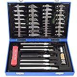 Agora-Tec® 51 tlg. Schablonenmesser und Modelliermesser Set AT-SMM-01 für Modellbau, Schablonen-, Papier- und Bastelarbeiten