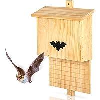 Large Wooden Bat Box - 29 x 10 x 42cm - Natural Garden Shelter For Roosting, Nesting & Hibernation Weather Proof Habitat For Summer & Winter