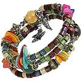 buntes Spiralarmband Damen / Mädchen Armband Modeschmuck