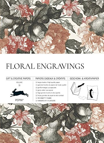 Floral Engravings #79: Gift wrapping paper book (Gift & Creative Papers Vol 79)