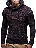 LEIF NELSON Gilet tricot col large, ch‰le - Homme LN20227