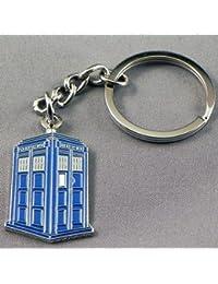 Gift Boxed Metal Enamel Keyring Time Lord Tardis (Time machine Police Box)