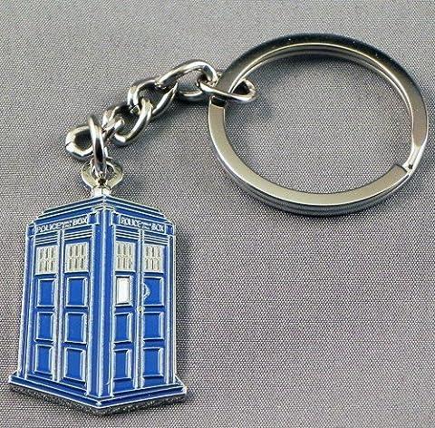 Livré dans un coffret cadeau en Métal-Email-Porte-clés Tardis (Time Lord Time machine de Police)