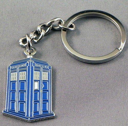 Geschenk Box Metall Emaille Schlüsselanhänger Time Lord Tardis (Time Machine Police Box)