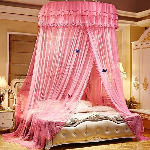 Moskitonetz Betthimmel Bett Vorhang hängenden Vorhang Kuppel Decke Prinzessin Bett verheiratet rot Schmetterling Doppel für Etagenbett Einfache Installation, Pink-1,2 Meter - 2,0 Meter (Schmetterlings-netz Für Bett)